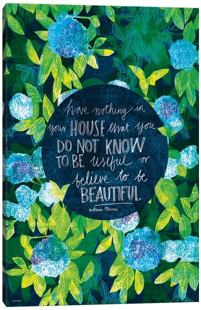 Artist Quotes Series: William Morris Canvas Print #PMI5