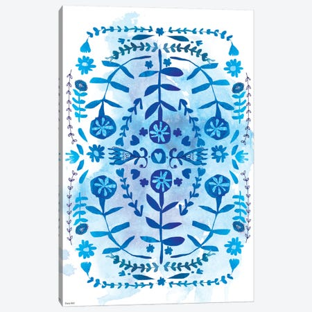 Blue & White Pattern Canvas Print #PMI7} by Sweet William Canvas Art Print