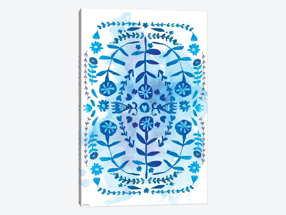 Blue & White Pattern by Sweet William 1-piece Canvas Wall Art