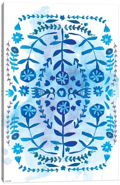 Blue & White Pattern Canvas Art Print