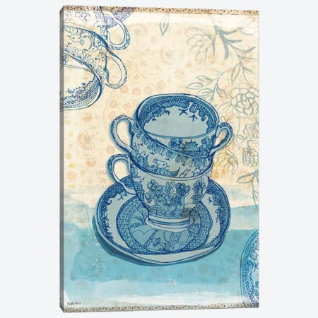 Blue Willow Pattern Canvas Print #PMI8} by Sweet William Canvas Artwork