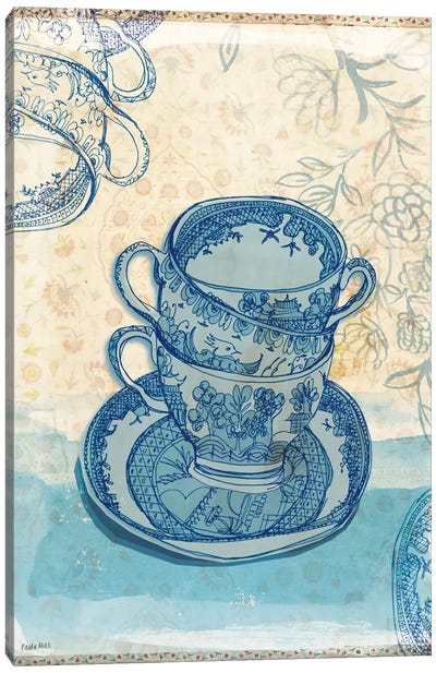 Blue Willow Pattern Canvas Art Print