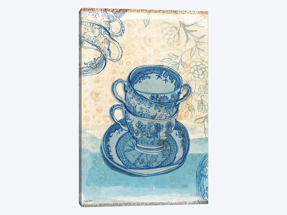 Blue Willow Pattern by Sweet William 1-piece Canvas Art Print