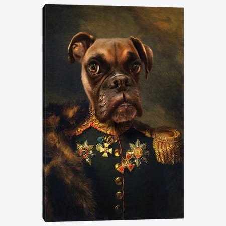 Rocky General I Canvas Print #PMP102} by Pompous Pets Art Print
