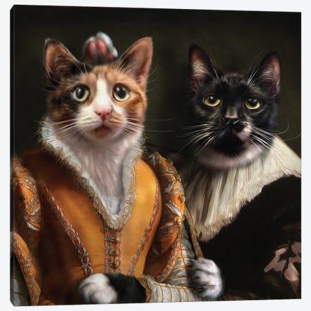Sylvester & Shirley Canvas Print #PMP117} by Pompous Pets Canvas Print