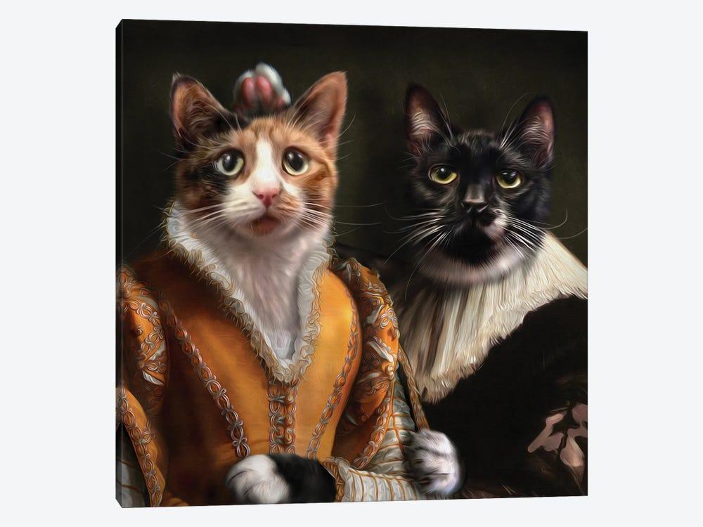 Sylvester & Shirley by Pompous Pets 1-piece Canvas Art