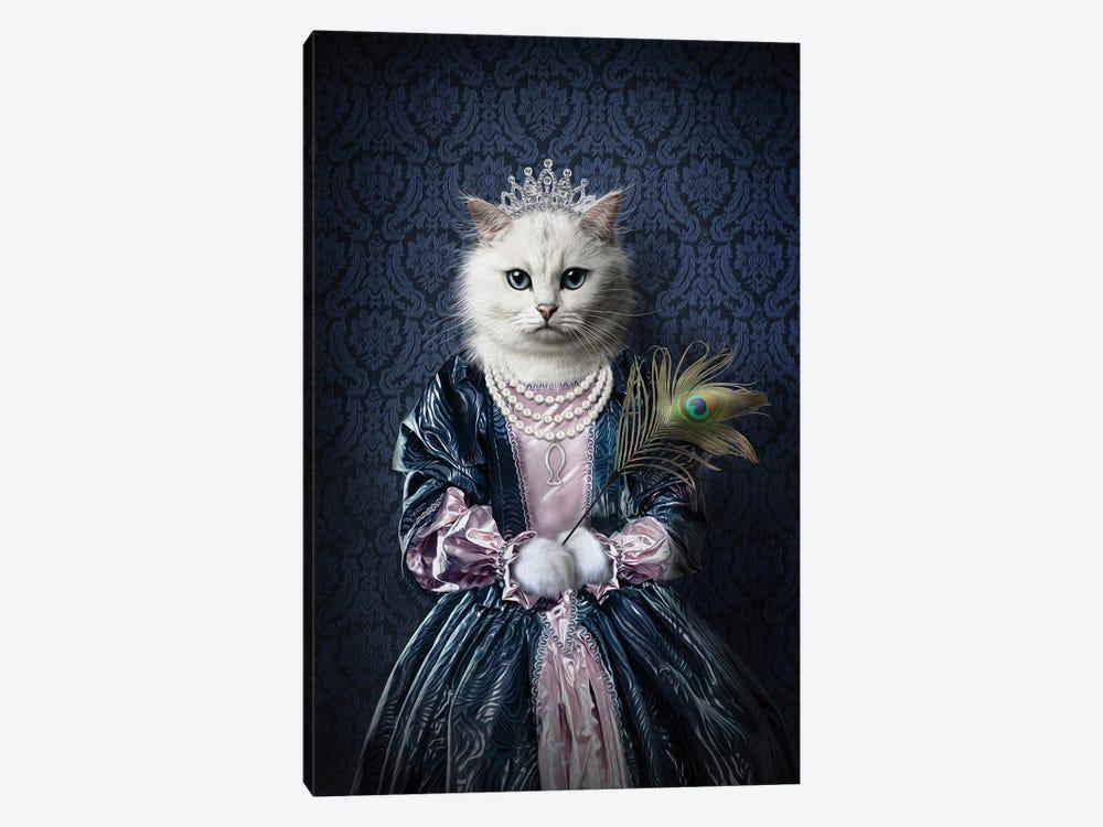 Queen Peacock by Pompous Pets 1-piece Canvas Artwork