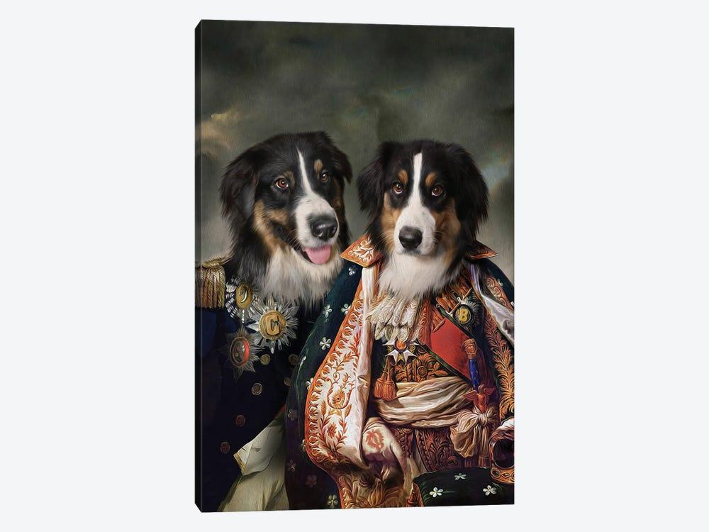 Bonnie & Clyde by Pompous Pets 1-piece Canvas Artwork