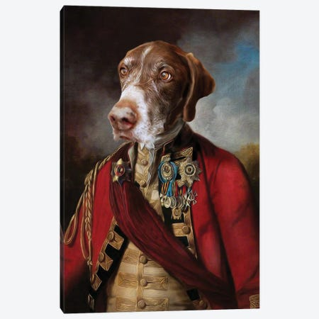 Buster I Canvas Print #PMP23} by Pompous Pets Canvas Artwork