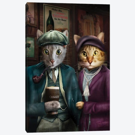 Chilli & Django Canvas Print #PMP27} by Pompous Pets Canvas Art Print