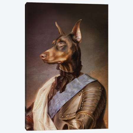 Doberman Canvas Print #PMP33} by Pompous Pets Canvas Art Print