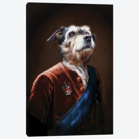 Duke Canvas Print #PMP37} by Pompous Pets Canvas Art