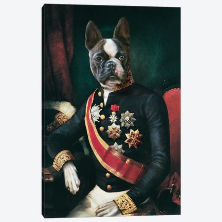 Eiffle Canvas Print #PMP39} by Pompous Pets Art Print