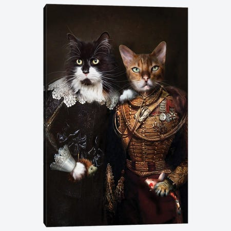 Elmo & Leon Canvas Print #PMP42} by Pompous Pets Canvas Art