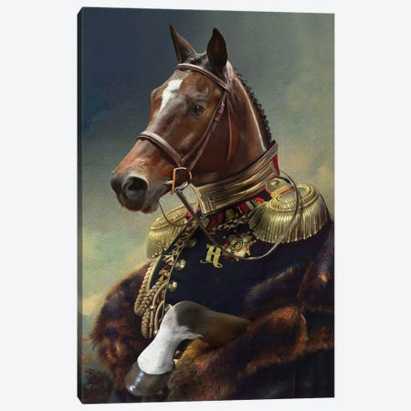 Henry Canvas Print #PMP57} by Pompous Pets Canvas Art