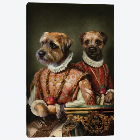 Holly & Ivy Canvas Print #PMP58} by Pompous Pets Art Print