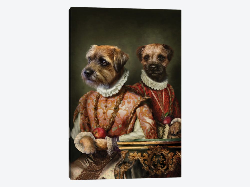 Holly & Ivy by Pompous Pets 1-piece Canvas Print
