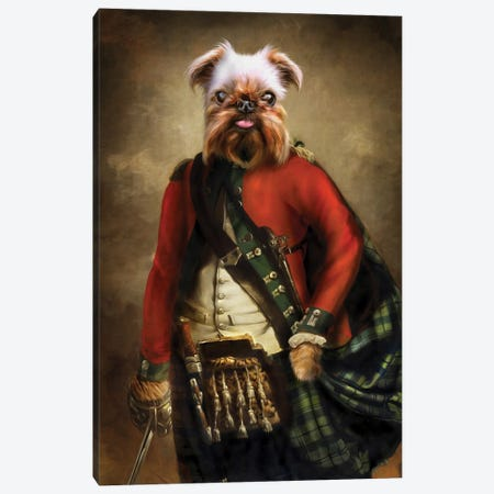 Jack Canvas Print #PMP61} by Pompous Pets Canvas Artwork