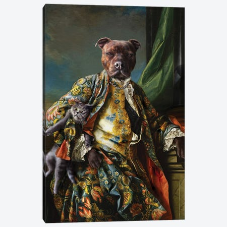 James Canvas Print #PMP63} by Pompous Pets Canvas Art
