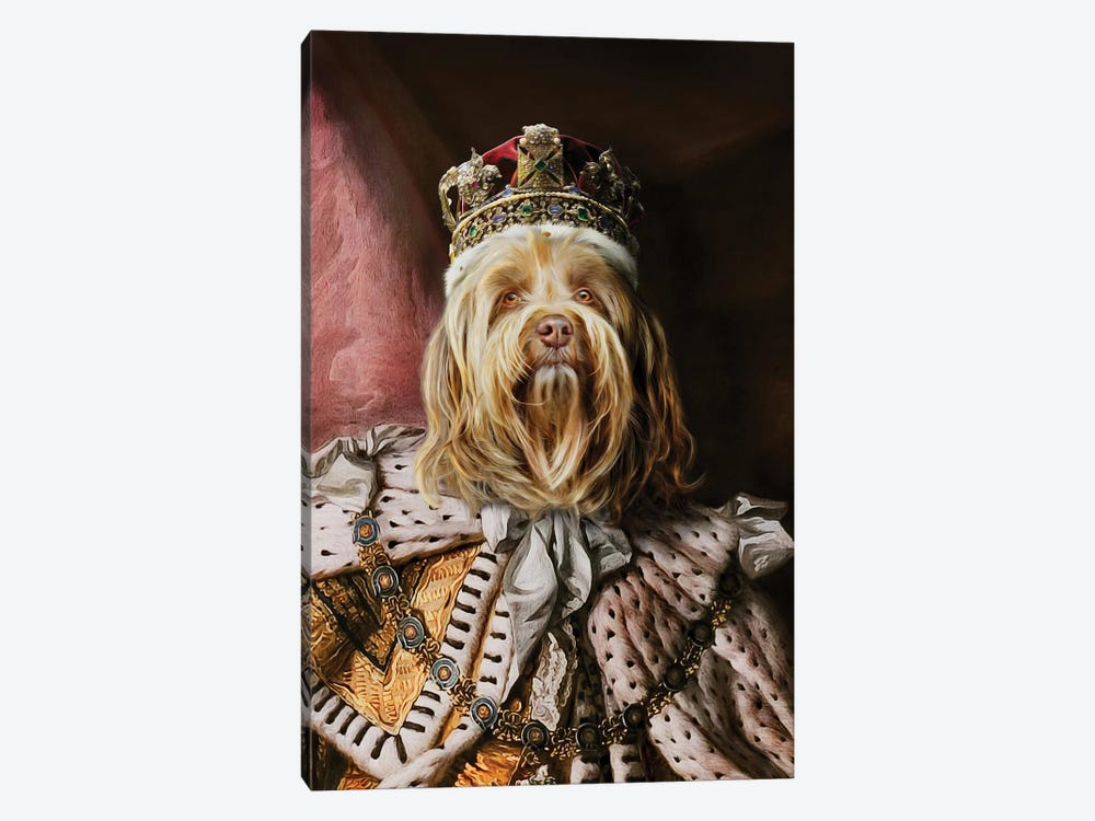 King Buddy by Pompous Pets 1-piece Canvas Wall Art