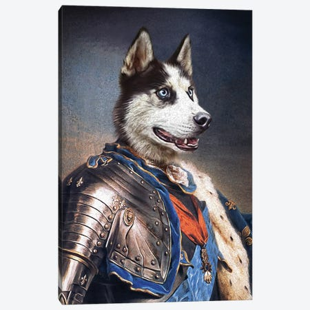 Meeko Canvas Print #PMP75} by Pompous Pets Canvas Wall Art