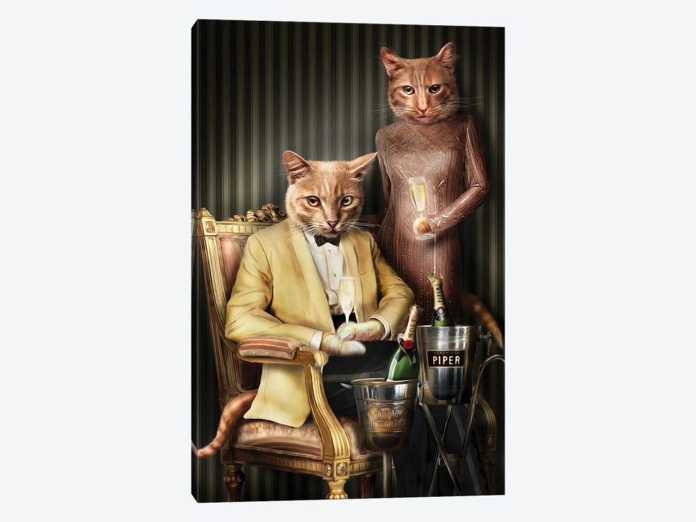 Moet & Piper by Pompous Pets 1-piece Canvas Wall Art