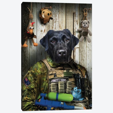 Molly Canvas Print #PMP81} by Pompous Pets Canvas Wall Art
