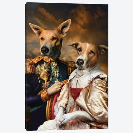 Mudflap & Spot Canvas Print #PMP82} by Pompous Pets Canvas Art