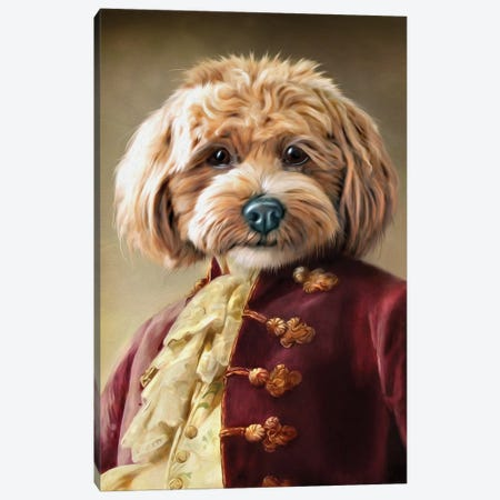 Ollie II Canvas Print #PMP88} by Pompous Pets Canvas Artwork