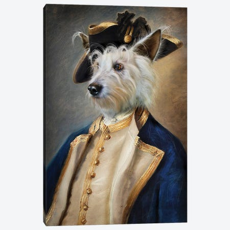 Barkley Canvas Print #PMP8} by Pompous Pets Canvas Art
