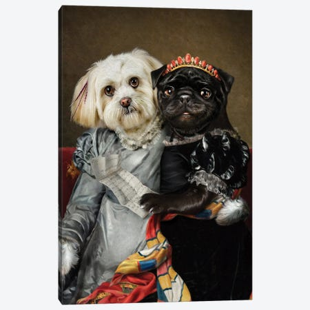 Peggy & Lucy Canvas Print #PMP92} by Pompous Pets Canvas Print