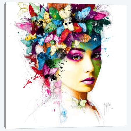 L'effet Papillon 3-Piece Canvas #PMU103} by Patrice Murciano Canvas Art Print