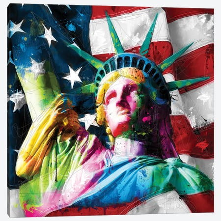 Liberty Canvas Print #PMU106} by Patrice Murciano Canvas Wall Art
