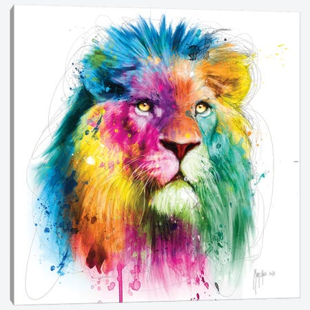 Lion Canvas Print #PMU107} by Patrice Murciano Canvas Wall Art