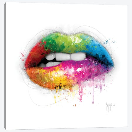 Lipstick Canvas Print #PMU108} by Patrice Murciano Art Print