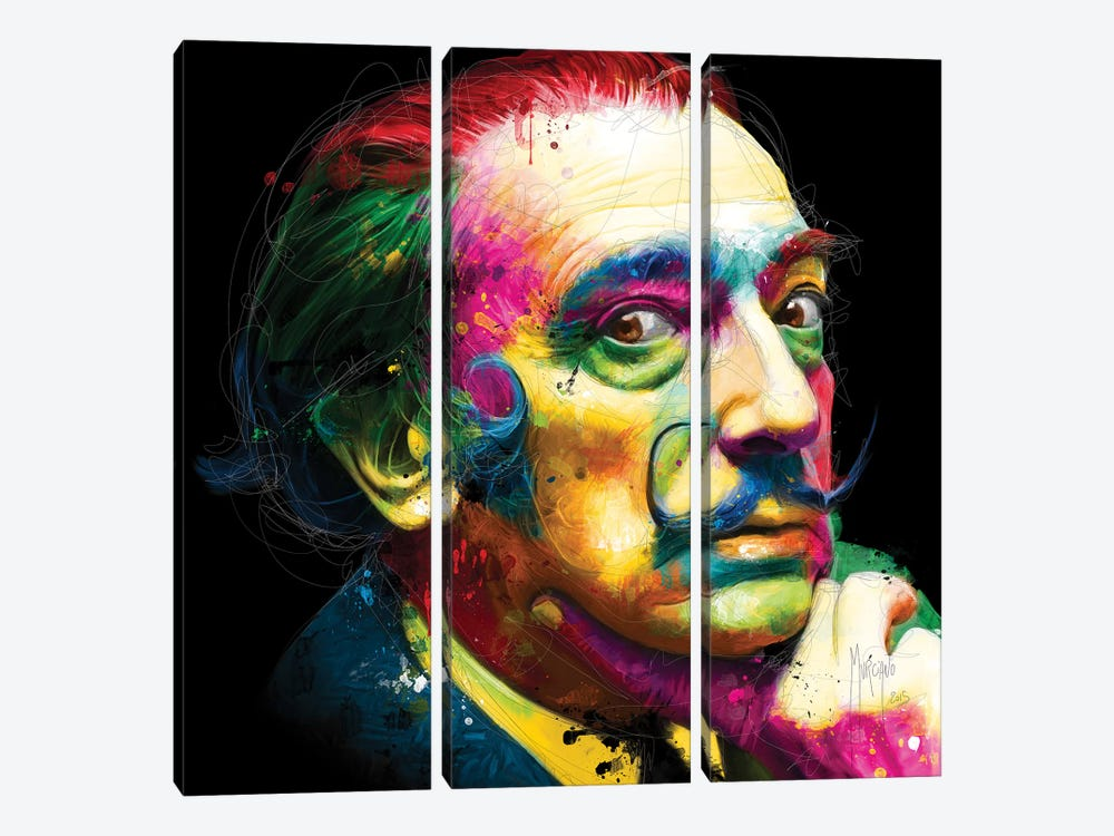 Dali by Patrice Murciano 3-piece Canvas Art