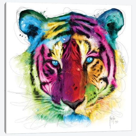 Tiger Canvas Print #PMU130} by Patrice Murciano Canvas Wall Art
