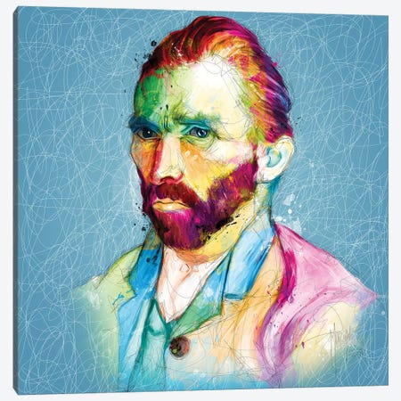 Van Gogh 3-Piece Canvas #PMU134} by Patrice Murciano Art Print