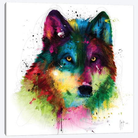 Wolf Canvas Print #PMU136} by Patrice Murciano Canvas Print