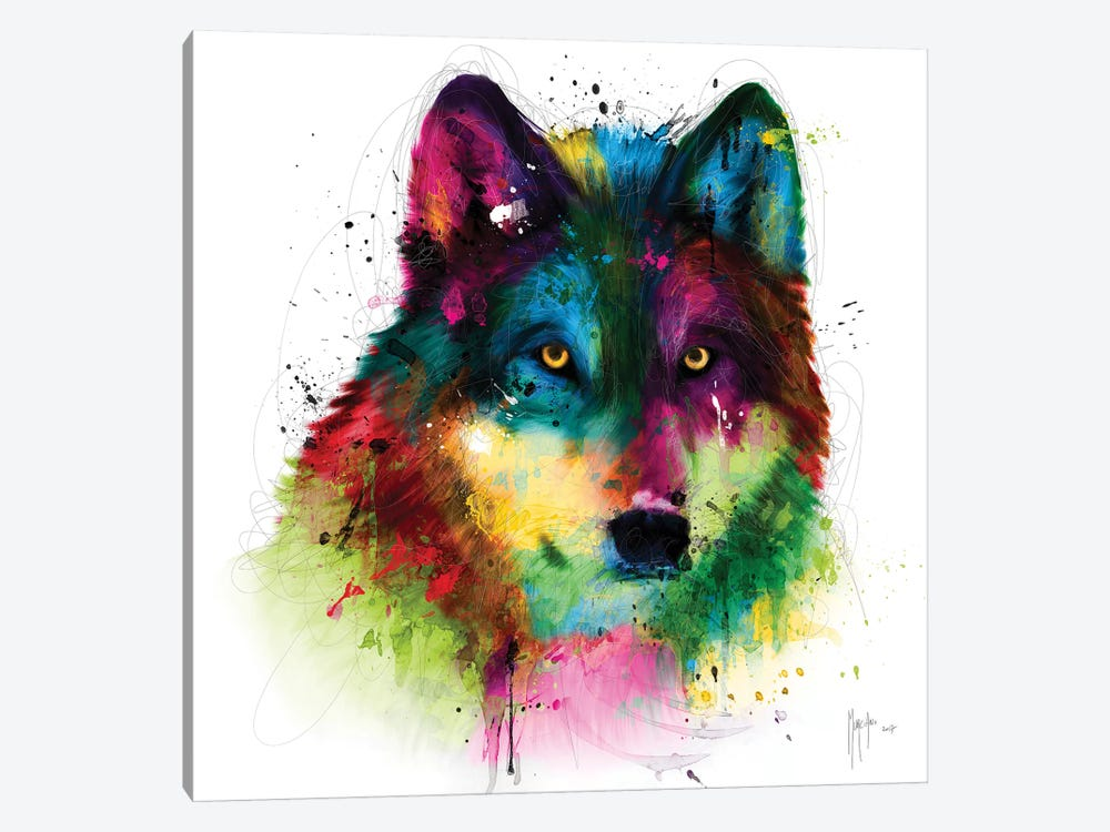 Wolf by Patrice Murciano 1-piece Canvas Print