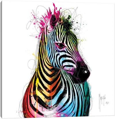 Zebra Pop Canvas Art Print