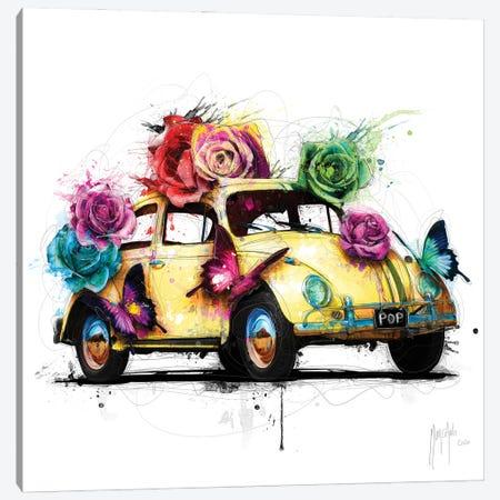 Popbeetle Yellow Canvas Print #PMU143} by Patrice Murciano Canvas Art Print