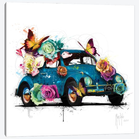 Popbeetle Blue Canvas Print #PMU144} by Patrice Murciano Canvas Artwork
