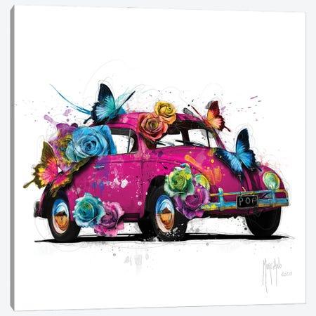 Popbeetle Pink Canvas Print #PMU145} by Patrice Murciano Canvas Wall Art