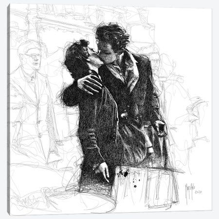 Le Baiser De L'Hotel De Ville Canvas Print #PMU156} by Patrice Murciano Art Print
