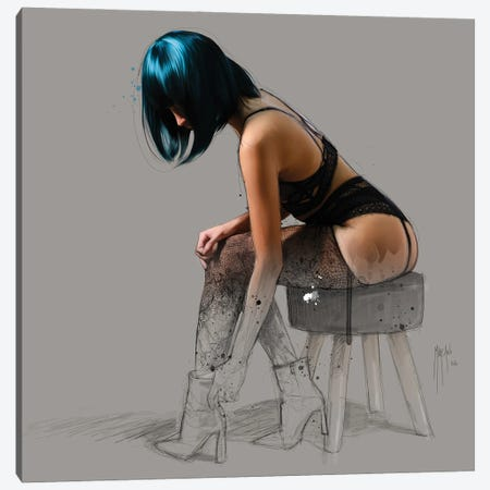 The Cloakroom Canvas Print #PMU166} by Patrice Murciano Canvas Art