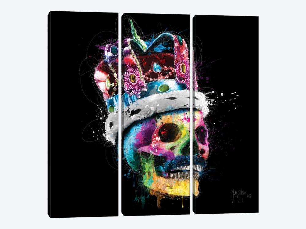 Freddie Mercury Skull by Patrice Murciano 3-piece Canvas Artwork