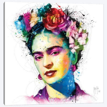 Frida Kahlo Canvas Print #PMU18} by Patrice Murciano Canvas Art