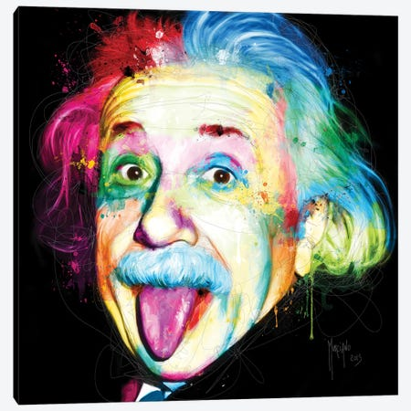 Albert Einstein Canvas Print #PMU1} by Patrice Murciano Canvas Print