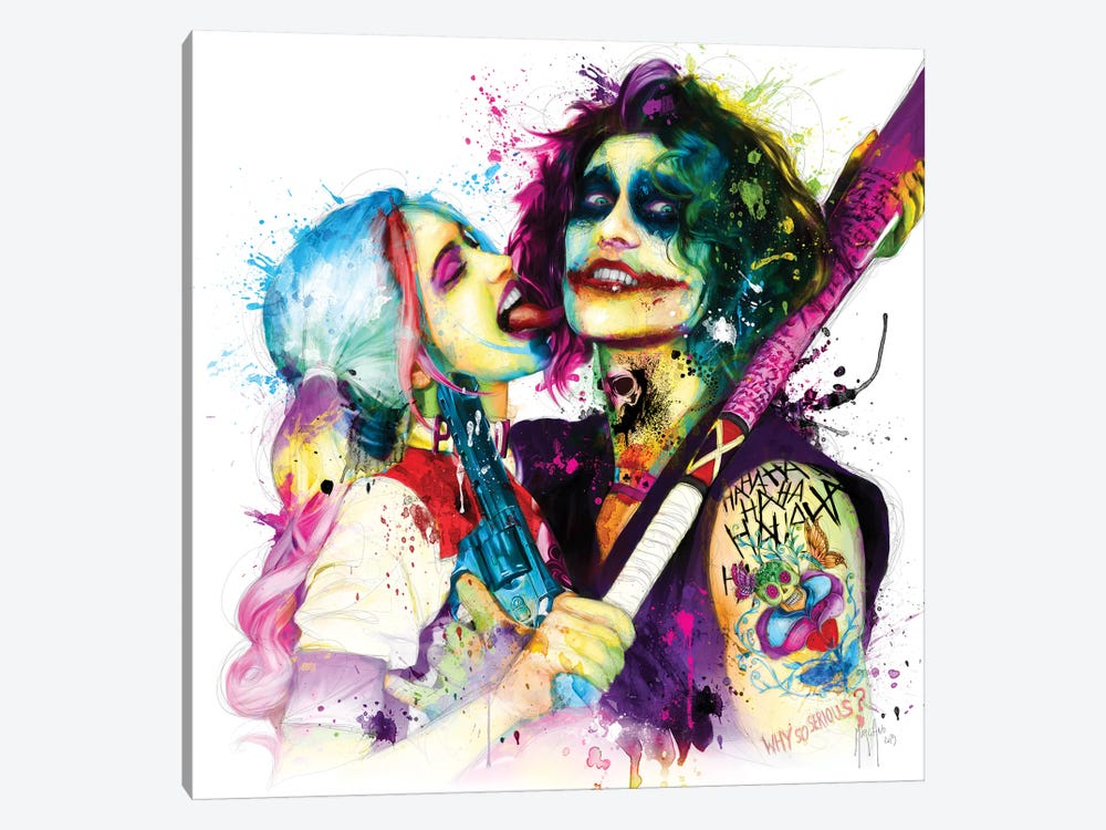Joker Harley Quinn by Patrice Murciano 1-piece Canvas Art Print